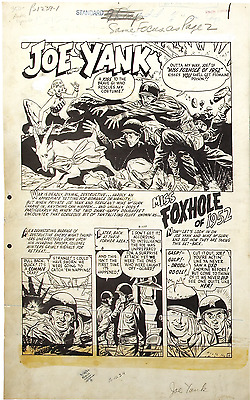 "Ross Andru & Mike Esposito 7 Page Story ""Miss Foxhole 1952"""