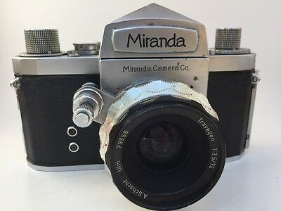 Vintage Lot MIRANDA T Camera With A. Schacht Ulm Travegon 1:3.5/35 35mm Lens