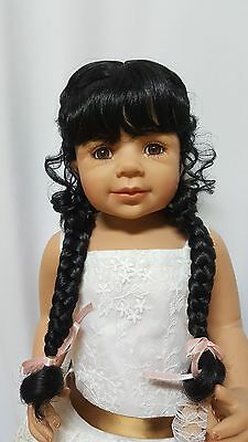 """NWT Monique Violet Black Doll Wig 16-17"""" fits Masterpiece Doll(WIG ONLY)"""
