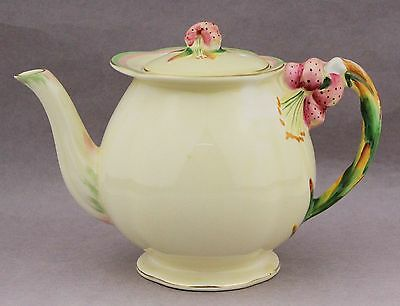 Royal Winton Teapot Tiger Lily Vintage English China Pattern 5773 High Tea Pot