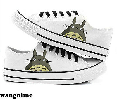 My Neighbor Totoro Casual Canvas Sneakers Running Casual Athletic Shoes White