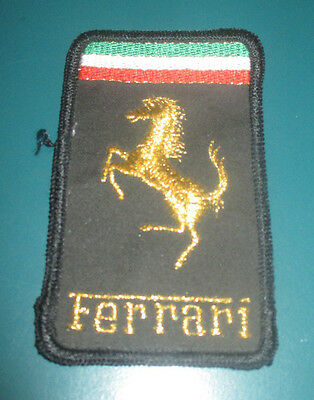 FERRARI Vintage Embroidered Black Patch 360 328 365 308 246 Dino 512 BB 400 456