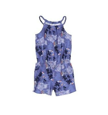 Crazy 8 New With Tags Girls Surf Island  Beach Print Romper Size 5/6