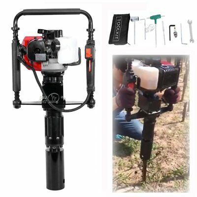 Powered Energy Gasoline Gas Pile Driver T-Post Driver 2-Stroke Farm Fence Tool