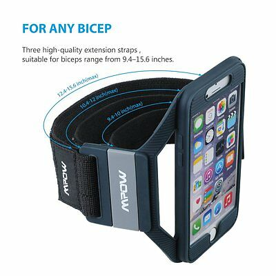 Mpow Silicone Sports Armband for Apple iPhone 7 6s 6 Comfortable Wearing Running