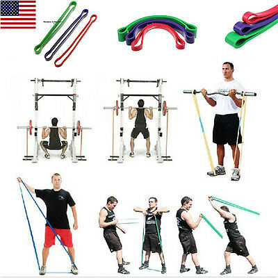 Resistance Loop Band Exercise Yoga Bands Rubber Fitness Training Strength Weight