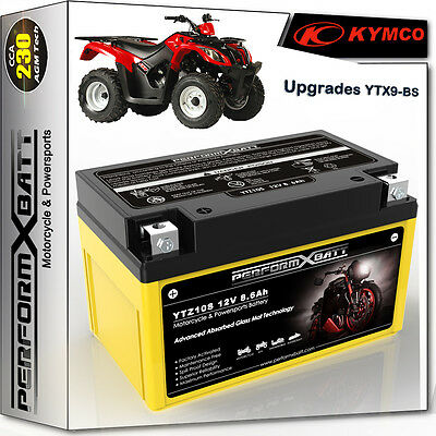 AGM Motorcycle Battery ATV Quad Kymco Mxer 150 MXU 150 YTZ10S > YTX9-BS 12V 8Ah