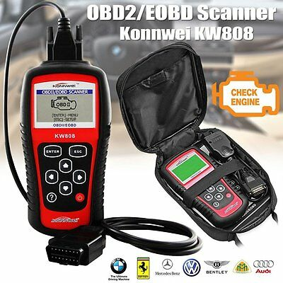 Universal Car Engine Fault Code Reader OBD2 EOBD Scanner KW808 Diagnostic CAN UK