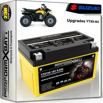 AGM Battery Quad Suzuki LT-Z 250 LT-Z400 QuadSport YTX9-BS 12V 8Ah 33610-32C10