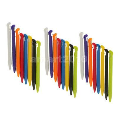 24xColored Stylus for New Nintendo 3DS LL/XL Slot in Touch Screen Pens