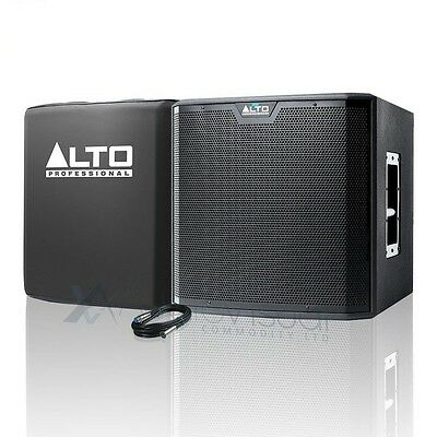 """Alto TS215S 15"""" 1250W Active Powered DJ PA Subwoofer with Sub Cover & FREE Cable"""