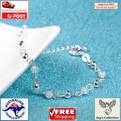 Summer Beach Silver Beads Ankle Chain Foot Jewelry Foot Bracelet / Anklet [A3J]