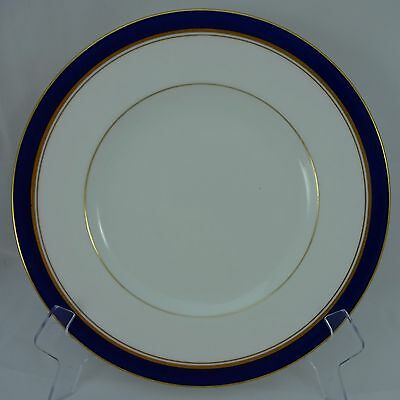 ROYAL WORCESTER china HOWARD COBALT BLUE pattern England Dinner Plate - 10-1/2""
