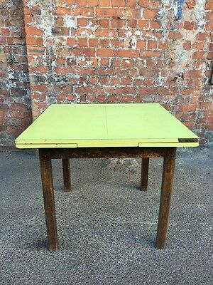Formica Top Mid-Century Vintage Extendable Pull-Out Oak Kitchen / Dining Table