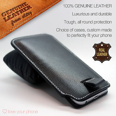 Genuine Leather Luxury Pull Tab Flip Pouch Sleeve Phone Case Cover✔Apple