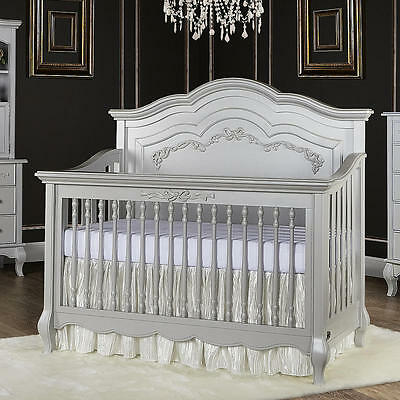 Evolur Aurora 5-in-1 Convertible Crib - Akoya Gray Pearl