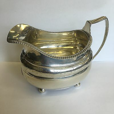 Antique Georgian Solid Silver Creamer / Milk Jug 1814 112.9g 13.5cm Repaired