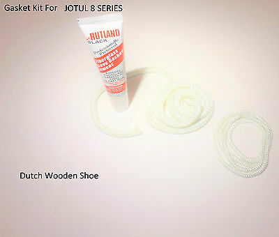 Jotul 8 white glass door  Gasket Kit Stove rope Jøtul.