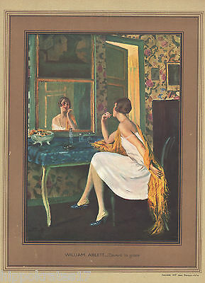 FAKSIMILE, 1926, XXL, Vor dem Spiegel, William Ablett, in front of the mirror /B