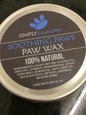 Dog Paw Wax Soothing Sore Dry Cracked Pads 50g Simply Pawsome 100% Natural