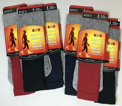 High Quality Long Red Black BlueThermal Heat Hold Socks Size 7-12