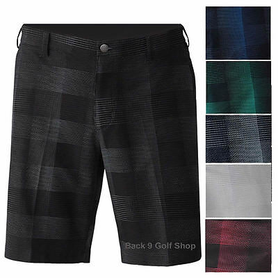 New Adidas Golf Ultimate Competition Plaid Golf Shorts Pick One
