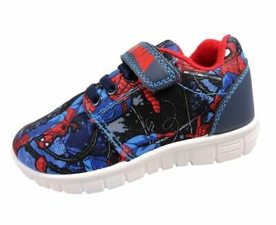 Spiderman Navy & Red Trainers - Touch Fastening