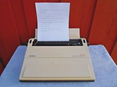 Brother AX-10 Correctronic Electric Word Processor Typewriter EUC Tested