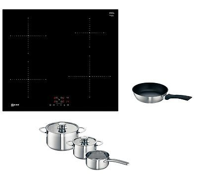 Neff T36FB41X0G Built-in Low Consumption Plug-in Induction Hob & Free Pan Set
