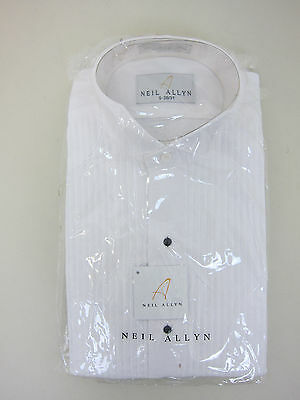 Neil Allyn Tuxedo Shirt - Mens 30-31 - Small - White - NWT