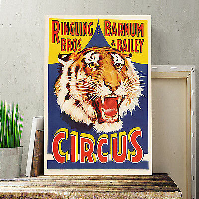 24x16 Inch Canvas Print Picture Wall Art Vintage Circus