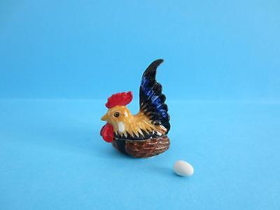 New 2017 Year Of The Rooster Chinese 'rooster Shape Box&egg Figurine *mint*
