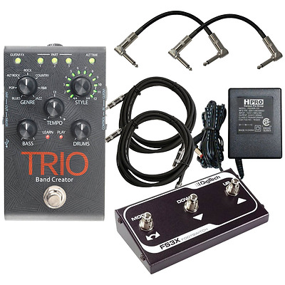 Digitech Trio Band Creator Pedal and FS3X Footswitch