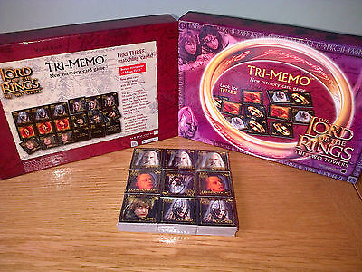 TRI MEMO Memory Card Game - SEALED CARDS - The LORD OF THE RINGS The TWO TOWERS