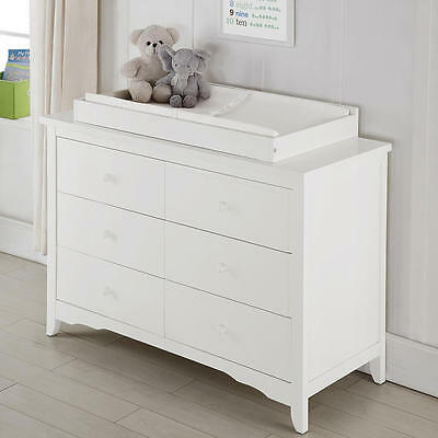 Baby Relax Lakeley Dresser Topper - White