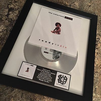 Notorious BIG Biggie Smalls Platinum Record Album Disc Music Award MTV RIAA