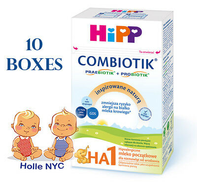 HiPP Combiotic HA 1 First Infant Milk 10 BOXES FREE SHIPPING 01/2019