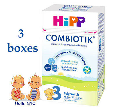 HiPP Combiotic Stage 3 Milk Formula 3 BOXES FREE PRIORITY SHIPPING 04/2019