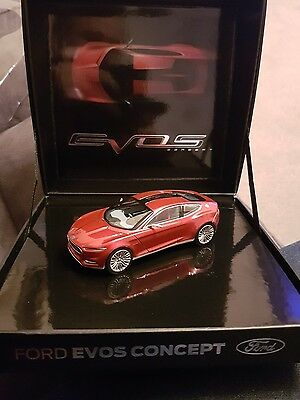 Ford Genuine New Evos Concept 1:43 Scale Model In Red Hot Chilli 35020802