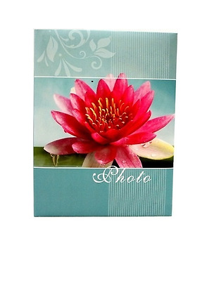 """Slip In Photo Album Holds 200 6/"""" x 4/"""" Photos Great Gift Pink Flowers"""