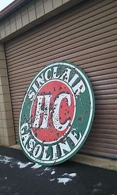 Vintage 1930's- 6 Foot Diameter Porcelain double sided Sinclair Sign- RARE
