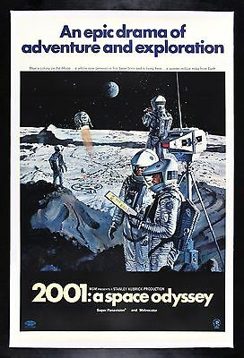 2001 A SPACE ODYSSEY ✪ CineMasterpieces ORIGINAL MOVIE POSTER KUBRICK SCIFI 1968