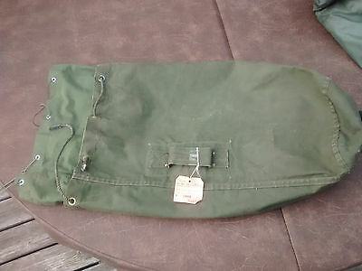 Canadian Army 1957 valise duffle bag with original tag, Lahr Germany