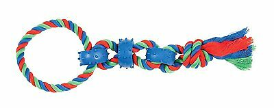 Chomper Rope Chain Link Tug Tugger Spring Dog Toy. Free Shipping To The Usa