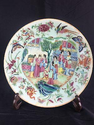 Antique Chinese Famille Rose Plate Mid 19Th Century