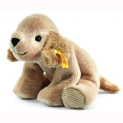 281297 STEIFF LUMPI GOLDEN RETRIEVER HUND LIEGEND BEIGE 16 cm