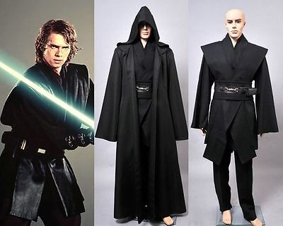 Star Wars Dark Jedi Sith Darth Vader Adult Black Costume Cloak Robe Cosplay 2