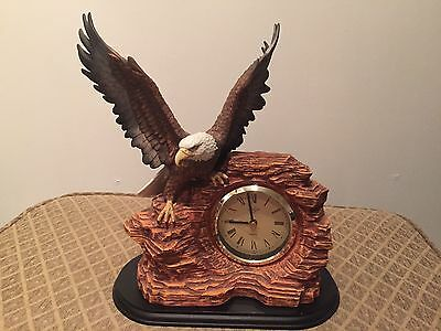 Lenox The Sentinal Eagle Fine Porcelain Table Clock Hand Crafted