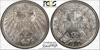 Germany 1914-A 1 Mark, PCGS MS67, stunning eye appeal!