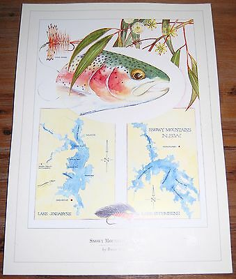 Fly Fishing Artwork - SIGNED Trevor Hawkins Print - Snowy Mountains, NSW